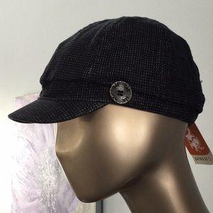 Pistil NWT black & white threaded woman's hat